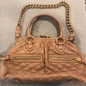 Marc Jacobs nude gently used Stam bag